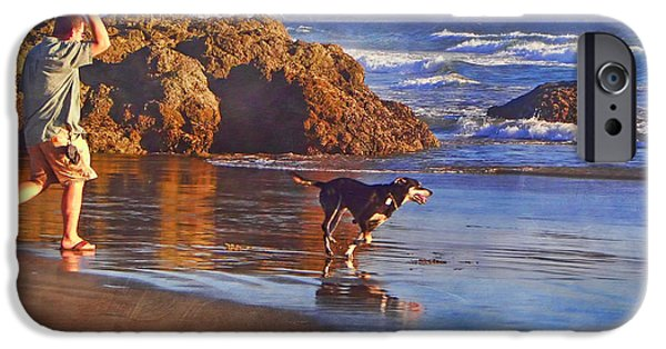 Pch iPhone Cases - Fetch - Dog and Master - Morro  iPhone Case by Nikolyn McDonald