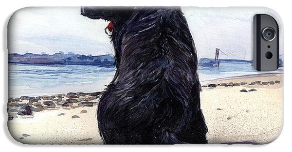 Black Dog iPhone Cases - Fetching iPhone Case by Molly Poole