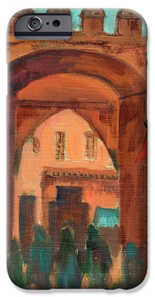 Village iPhone Cases - Fez Town Scene iPhone Case by Diane McClary