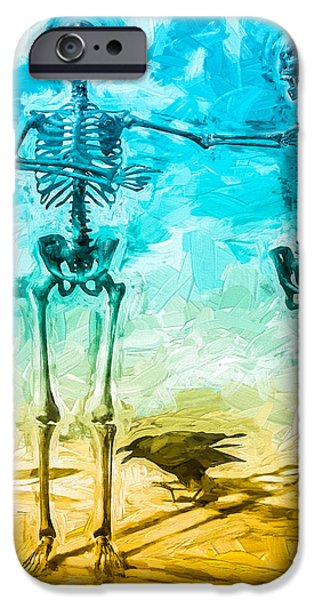 Macabre iPhone Cases - Fickle Finger Of Fate iPhone Case by Bob Orsillo