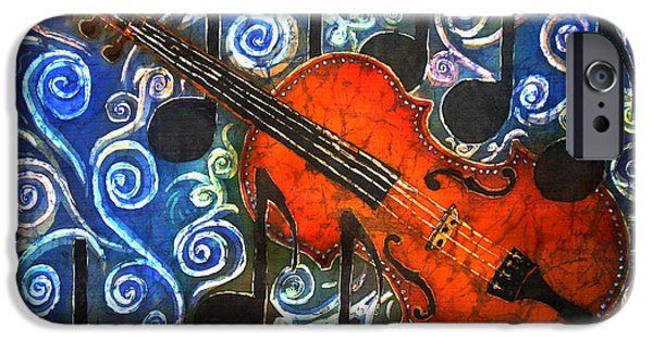 Music Tapestries - Textiles iPhone Cases - Fiddle - Violin iPhone Case by Sue Duda