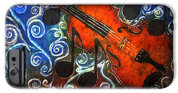 Celebrities Tapestries - Textiles iPhone Cases - Fiddle - Violin iPhone Case by Sue Duda