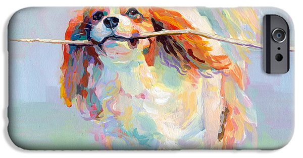 Pastel Paintings iPhone Cases - Fiddlesticks iPhone Case by Kimberly Santini