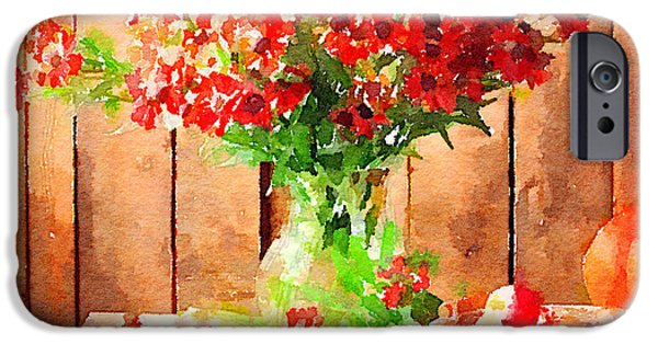 Interior Still Life iPhone Cases - Field Flowers iPhone Case by Yury Malkov