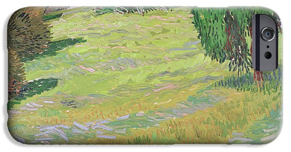 Vincent iPhone Cases - Field in Sunlight iPhone Case by Vincent van Gogh