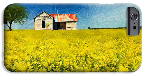 Canola Field iPhone Cases - Field of Dreams iPhone Case by Betty LaRue