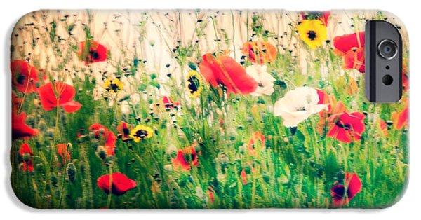 Ww1 iPhone Cases - Field of Poppys iPhone Case by Karen Lawrence  SMPhotography
