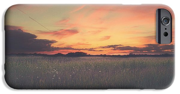 Sunset iPhone Cases - Field On Fire iPhone Case by Carrie Ann Grippo-Pike