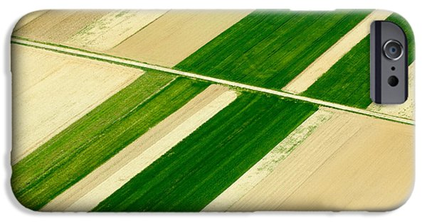 Diagonal iPhone Cases - Fields in Spring 5 iPhone Case by Davorin Mance