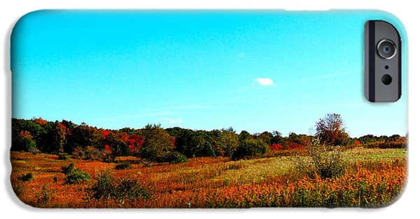 Fall iPhone Cases - Fields of Colors iPhone Case by Nancy Wagener