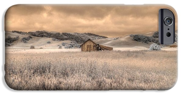 Old Barn iPhone Cases - Fields of Gold iPhone Case by Jane Linders