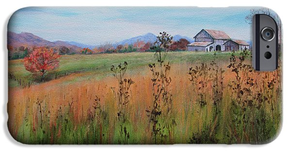 Business Paintings iPhone Cases - Fields of Home iPhone Case by Bonnie Mason