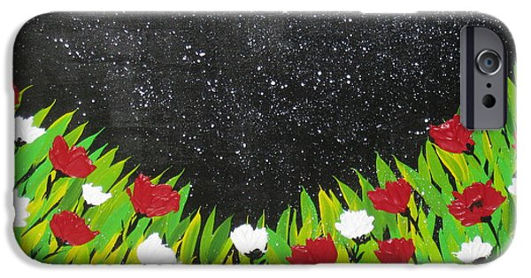 Catherine White Paintings iPhone Cases - Fields Of Joy 2 iPhone Case by Cathy Jacobs