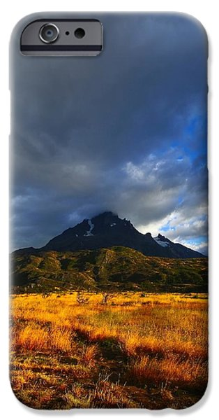 Chile iPhone Cases - Fields Of Patagonia 2 iPhone Case by FireFlux Studios