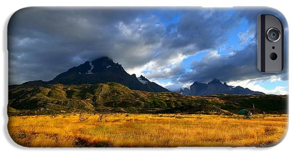 Chile iPhone Cases - Fields Of Patagonia iPhone Case by FireFlux Studios