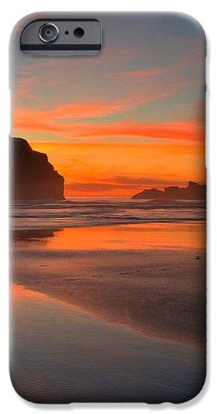 Fiery Bandon Beach iPhone Case by Adam Jewell