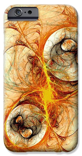Fiery iPhone Cases - Fiery Birth iPhone Case by Anastasiya Malakhova