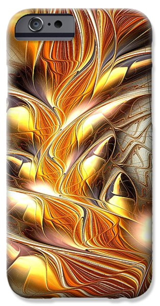 Fiery iPhone Cases - Fiery Claws iPhone Case by Anastasiya Malakhova