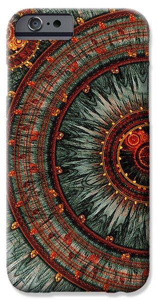 Fiery  clockwork iPhone Case by Martin Capek
