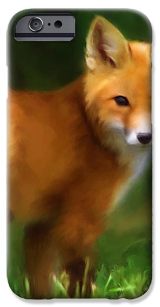 Fiery Fox iPhone Case by Christina Rollo