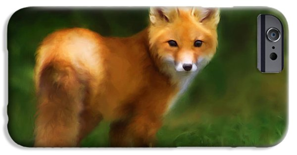 Fiery iPhone Cases - Fiery Fox iPhone Case by Christina Rollo