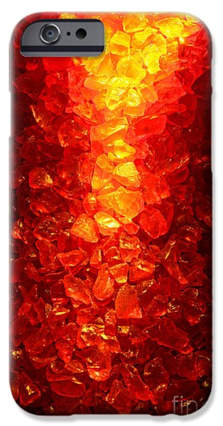 Fiery iPhone Cases - Fiery iPhone Case by Olivier Le Queinec