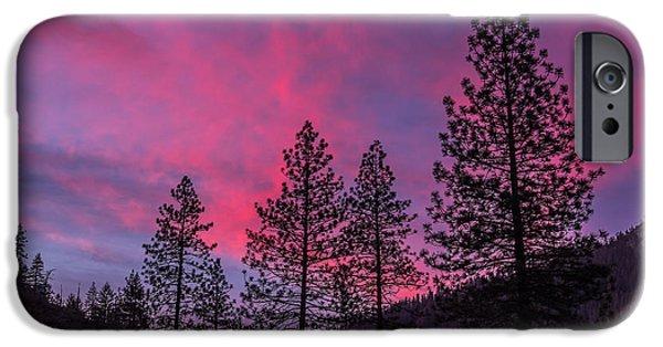Fiery iPhone Cases - Fiery Sky iPhone Case by Bill Roberts
