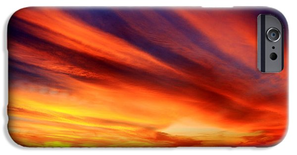 Southern Indiana iPhone Cases - Fiery Sunset iPhone Case by Andrea Kappler
