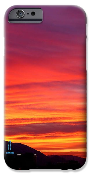Fiery Sunset iPhone Case by Rona Black