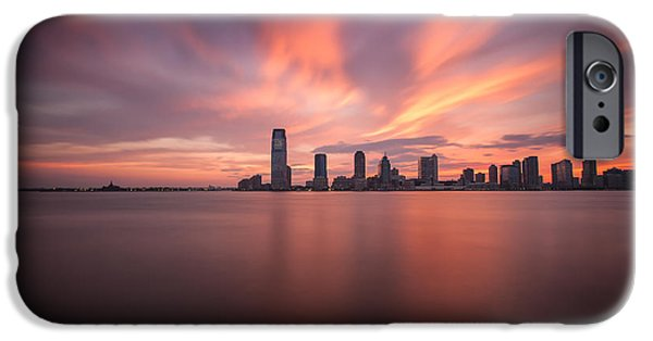 Hudson River iPhone Cases - Fiery Sunset iPhone Case by Tim Drivas