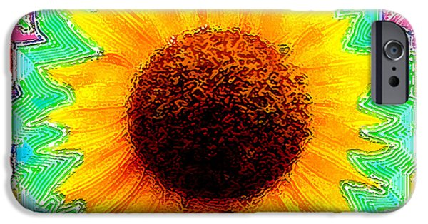 Girasol iPhone Cases - Fiesta iPhone Case by Cristophers Dream Artistry