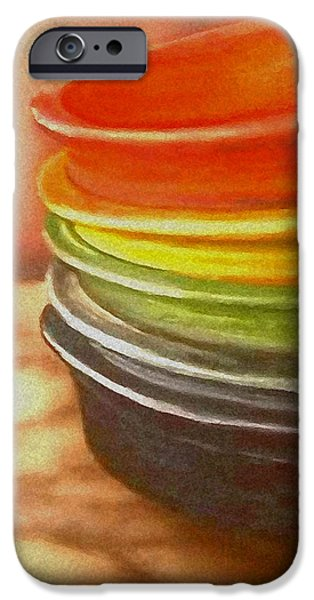 Airbrush iPhone Cases - Fiestware art iPhone Case by Todd Spaur