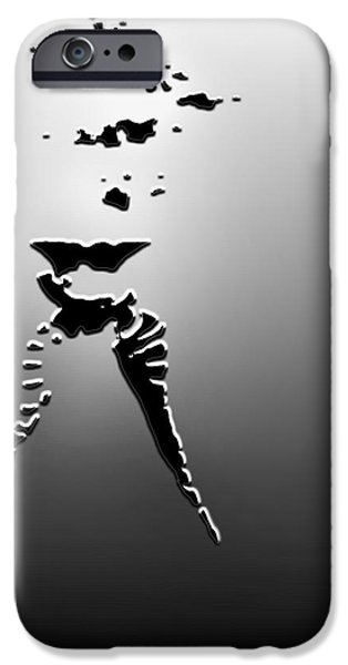 Figure iPhone Cases - Fifty shades of Grey Rising Up iPhone Case by Ronel Broderick