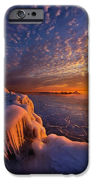 Meadow Photographs iPhone Cases - Fifty Shades of Sunrise iPhone Case by Phil Koch
