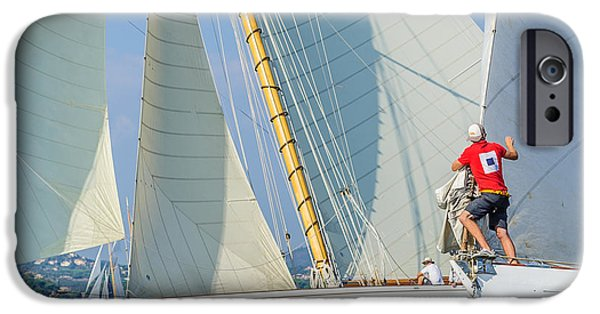 St.tropez iPhone Cases - Fight iPhone Case by Christian Baumgart