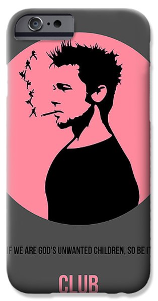 Fight Digital iPhone Cases - Fight Club Poster 1 iPhone Case by Naxart Studio