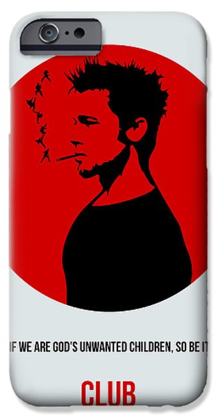 Edward iPhone Cases - Fight Club Poster 2 iPhone Case by Naxart Studio