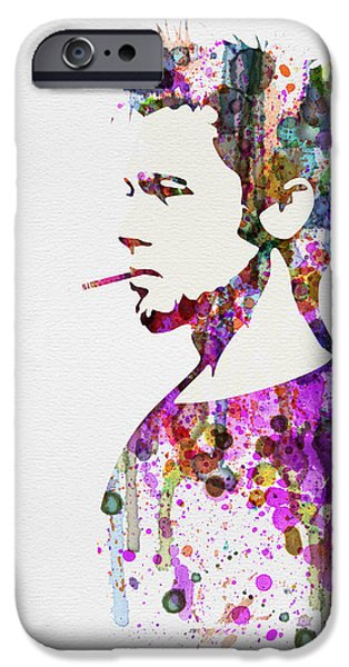Tv Show iPhone Cases - Fight Club Watercolor iPhone Case by Naxart Studio
