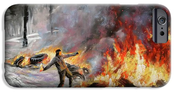 Drama Pastels iPhone Cases - Fight for your rights iPhone Case by Roman Burgan