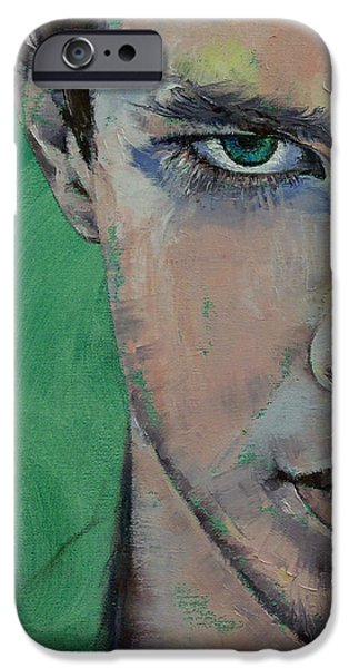 Manga iPhone Cases - Fighter iPhone Case by Michael Creese