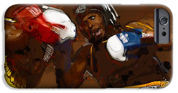 Cage Fighter Digital Art iPhone Cases - Fighters iPhone Case by Dennis Wickerink