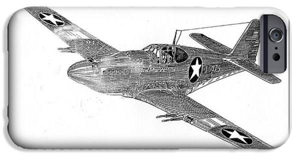 Ww Ii iPhone Cases - Fighting P 51 iPhone Case by Jack Pumphrey