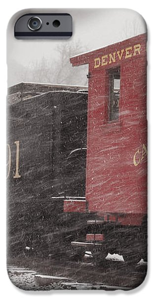 Fighting through the Winter Storm iPhone Case by Ken Smith