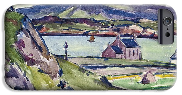Coastal Places iPhone Cases - Figure and Kirk   Iona iPhone Case by Francis Campbell Boileau Cadell
