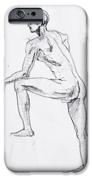 Figure Drawing iPhone Cases - Figure Drawing Study II iPhone Case by Irina Sztukowski