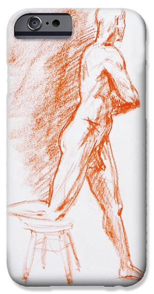 Figure Drawing iPhone Cases - Figure Drawing Study III iPhone Case by Irina Sztukowski