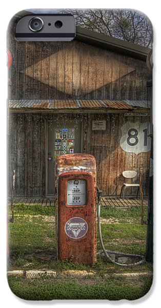 Sign iPhone Cases - Fill Er Up iPhone Case by David and Carol Kelly