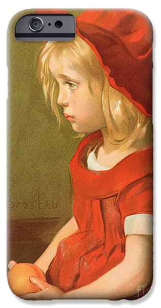Child iPhone Cases - Fillette a lorange iPhone Case by Marie Louise Catherine Breslau