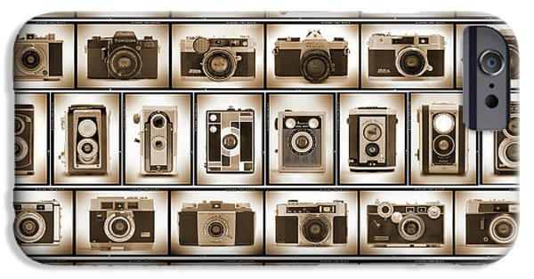 Rangefinder iPhone Cases - Film Camera Proofs iPhone Case by Mike McGlothlen