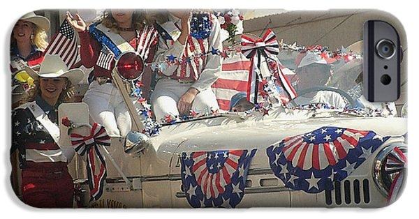 Prescott iPhone Cases - Film homage Dennis Hopper Blue Velvet 1986 Frontier Days Parade July 4th Prescott Arizona 2002-2008 iPhone Case by David Lee Guss